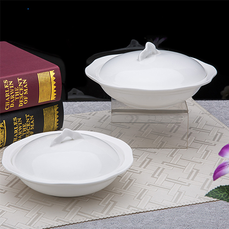 Wave Edge Soup Tureen with Lid